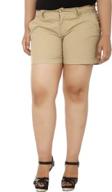 LastInch Solid Women's Basic Shorts