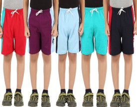 Meril Graphic Print Boy's Blue, Red, Dark Blue, Green, Maroon Sports Shorts