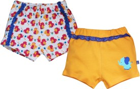 FS Mini Klub Printed Baby Girl's Pink Basic Shorts