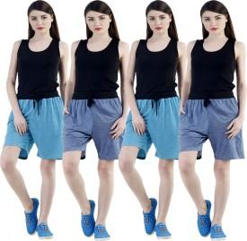 Dee Mannequin Self Design Women's Dark Blue, Dark Blue, Blue, Blue Sports Shorts