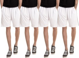 Dee Mannequin Solid Men's White, White, White, White Basic Shorts