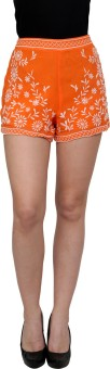 Fashley London Embroidered Women's High Waist Shorts