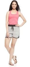Gritstones Solid Women's Basic Shorts