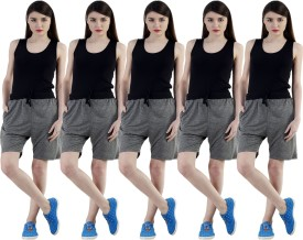 Dee Mannequin Self Design Women's Grey, Grey, Grey, Grey, Grey Sports Shorts