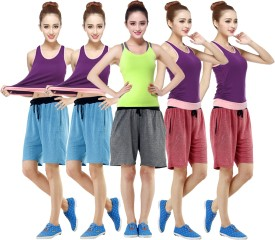 RIPR Self Design Women's Red, Blue, Grey Sports Shorts
