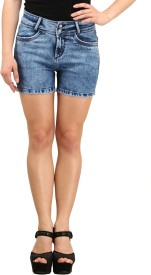 X'pose Solid Women's Denim Shorts