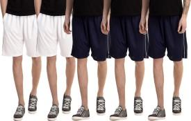 Dee Mannequin Solid Men's White, White, Dark Blue, Dark Blue, Dark Blue Basic Shorts
