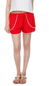 House Of Tantrums Solid Women's Hotpants, Basic Shorts, Beach Shorts