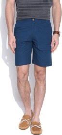 Hubberholme Solid Men's Blue Chino Shorts