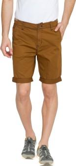 Teemper Concept85-Brown Solid Men's Basic Shorts
