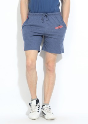 Hanes Hanes Solid Men's Sports Shorts (Blue)