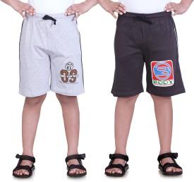 Dongli Printed Boy's Grey, Multicolor Sports Shorts
