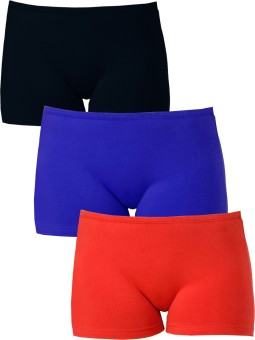 Softrose Solid Women's Black, Red, Dark Blue Sports Shorts