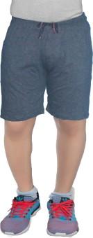 COTTONBUDS Solid Men's Grey Sports Shorts, Boxer Shorts, Night Shorts