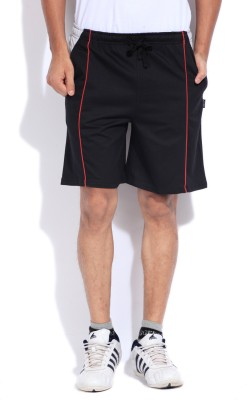 Hanes Hanes Solid Men's Sports Shorts (Black)