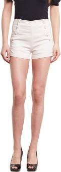 Diachic Solid Women's Pink High Waist Shorts