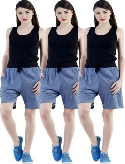 Dee Mannequin Self Design Women's Dark Blue, Dark Blue, Dark Blue Sports Shorts