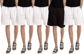 Dee Mannequin Solid Men's White, White, White, White, Black Basic Shorts