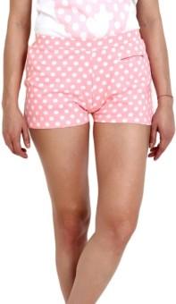Slumber Jill Pink Polka Print Women's Basic Shorts