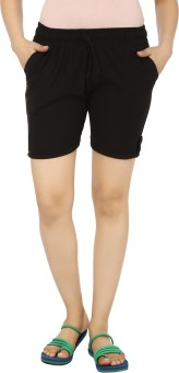Teemoods Solid Women's Basic Shorts