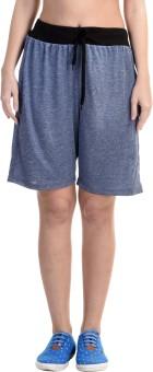 Meebaw Solid Women's Dark Blue, Dark Blue, Dark Blue, Dark Blue, Dark Blue Gym Shorts - SRTEGGMAVZS7USZG