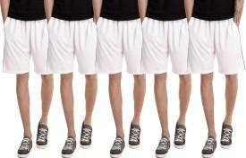 Dee Mannequin Solid Men's White, White, White, White, White Basic Shorts