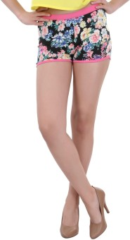 Street 9 Multicolored Floral Print Women's Hotpants