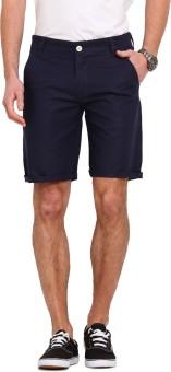 Ennoble Solid Men's Dark Blue Basic Shorts - SRTEHAZSPZPRSCJT
