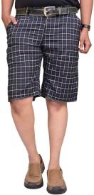 British Terminal Checkered Men's Blue Bermuda Shorts