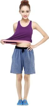 Gaushi Solid Women's Dark Blue Basic Shorts