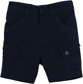 Mom&Me Solid Baby Boy's Cargo Shorts