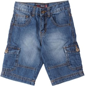 Chalk By Pantaloons Solid Boy's Denim Shorts