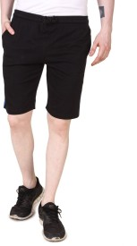 Aventura Outfitters Solid Men's Black Basic Shorts