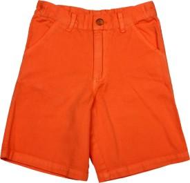 Apricot Kids Printed Boy's Orange Basic Shorts