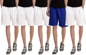 Dee Mannequin Solid Men's White, White, White, White, Blue Basic Shorts
