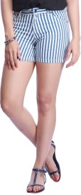 Stop by Shoppers Stop Striped Women's Basic Shorts