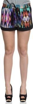 Oxolloxo Women'S Multicolour Shorts Printed Women's Basic Shorts