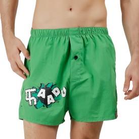 The Boxer Store Printed Men's Green Boxer Shorts, Beach Shorts, Night Shorts, Gym Shorts, Basic Shorts