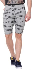 Rose Taylor Printed Men's Grey Basic Shorts