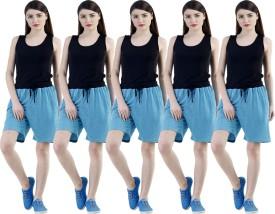 Dee Mannequin Self Design Women's Blue, Blue, Blue, Blue, Blue Sports Shorts