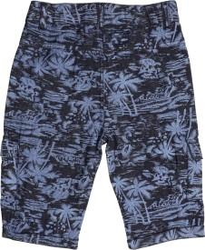 Cub Printed Boy's Blue Denim Shorts