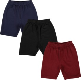 Lula Solid Girl's Black, Blue, Maroon Cycling Shorts