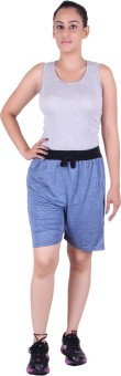 Gag Wear Solid Women's Dark Blue Basic Shorts