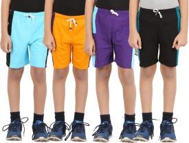 ZIPPY Solid, Printed Boy's Multicolor Sports Shorts
