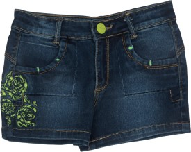 Leo N Babes Fashionwear Embroidered Girl's Denim Denim Shorts