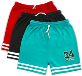 Njoy Solid Boy's Multicolor Sports Shorts, Beach Shorts, Boxer Shorts