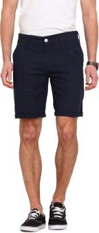 Ennoble Solid Men's Dark Blue Basic Shorts
