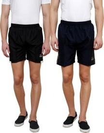 Grand Bear Self Design Men's Black, Dark Blue Boxer Shorts