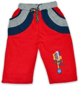 Just In Plus Solid Baby Boy's Reversible Basic Shorts