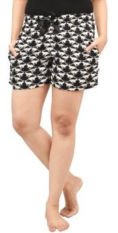 Nite Flite Printed Women's Night Shorts, Boxer Shorts